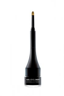 Eyeliner Gel Black Гелевая подводка с кистью (черная)